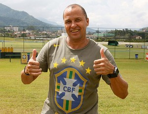 Valber no CT da CBF (Foto: Marcelo de Jesus / Divulgação)