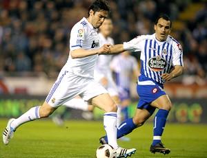 Kaká Real Madrid Claudio Morel Deportivo La Coruna (Foto: AFP)