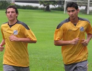 Elano e Ganso (Foto: Adilson Teixeira Barros / Globoesporte.com)