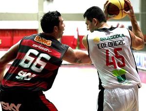 NBB Coloneze do Joinvlle e Babby do Flamengo  (Foto: Divulgação / Jaksson Zanco)