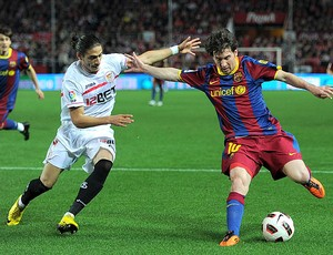 Messi Barcelona Cacerers Sevilla (Foto: Getty Images)