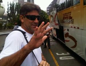 Renato Gaúcho, técnico do Grêmio, em Lima (Foto: Divulgação/Site oficial do Grêmio)