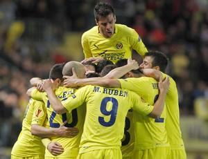 Comemoração do Villarreal x Bayer Levekrusen (Foto: Reuters)