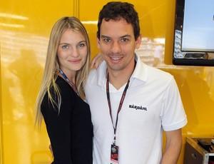 Stock Car: Giuliano Losacco e namorada no aniversário do piloto (Foto: Vanderley Soares / Stock Car)