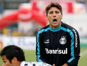 Renato Gaúcho na partida do Grêmio (Foto: Edu Rickes / GLOBOESPORTE.COM)
