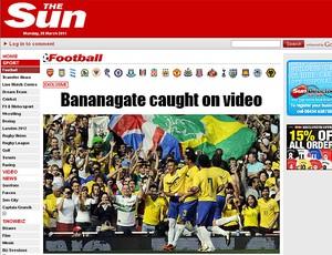 seleção brasileira neymar banana the sun (Foto: Reprodução/The Sun)
