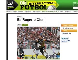 rogerio ceni olé jornal (Foto: Reprodução/Olé)