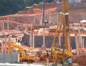 Obras na Fonte Nova (Foto: Eric Luis Carvalho/ GLOBOESPORTE.COM)
