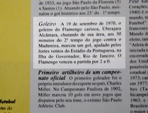 livro guiness texto primeiro goleiro a fazer gol futebol brasileiro (Foto: reprodução)