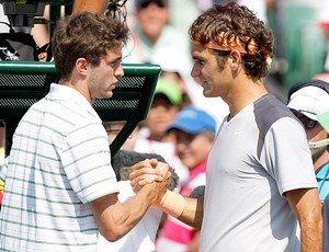 Gilles Simon tênis Roger Federer Miami quartas (Foto: AP)