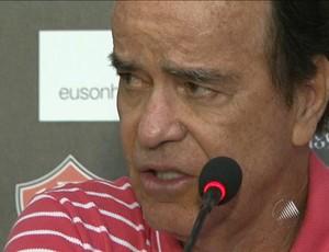 Técnico do Vitória, Antônio Lopes mantém time goleador contra o Serrano (Foto: Reprodução/TV Bahia)
