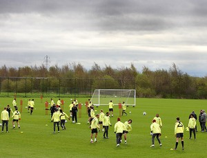 jogadores manchester united treino (Foto: agência Getty Images)