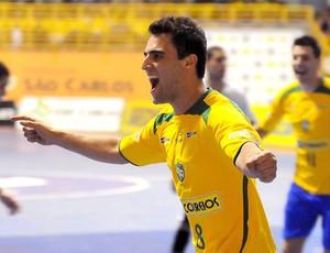 Murilo comemora gol pela seleção de futsal (Foto: Luciano Bergamaschi/CBFS )