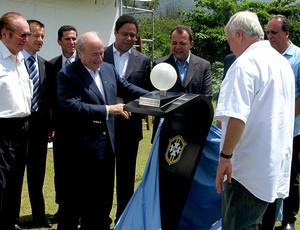 Blatter durante lançamento do projeto da sede da CBF (Foto: GLOBOESPORTE.COM)