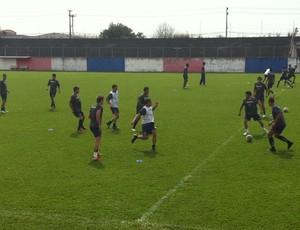 Paraná realiza treino de posse de bola (Foto: Fernando Freire - Globoesporte.com)