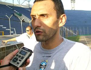 Rafael Marques treino Grêmio (Foto: Eduardo Cecconi / Globoesporte.com)