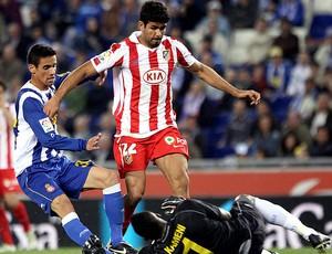 diego costa atletico madrid x espanhol (Foto: EFE)