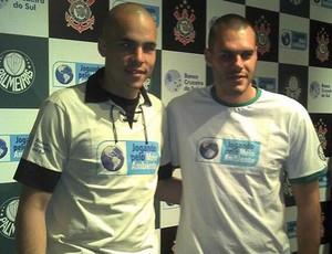 Julio Cesar, Corinthians, e Deola, Palmeiras (Foto: Reprodução)