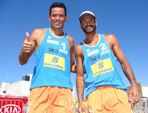 vôlei de praia dupla geor e gia (Foto: Alfredo Bokel / Globoesporte.com)