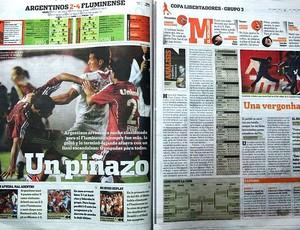 jornal argentino vitória Fluminense (Foto: Edgard Maciel de Sá / GLOBOESPORTE.COM)