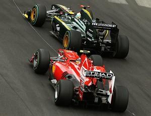 Alonso e Trulli durante o GP de Mônaco (Foto: Getty Images)