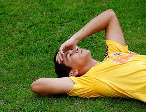 Ganso no treino do Santos (Foto: Ricardo Saibun / Ag. Estado)
