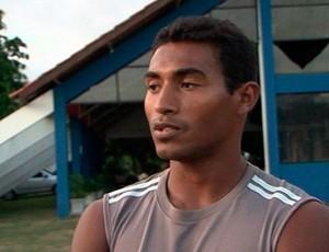 João Neto, atacante do Bahia de Feira (Foto: Reprodução/TV Subaé)