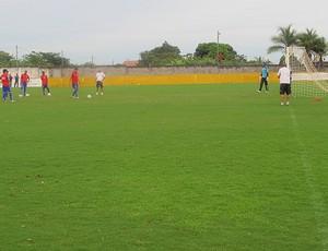 Treino Flamengo penaltis (Foto: Janir Júnior / Globoesporte.com)