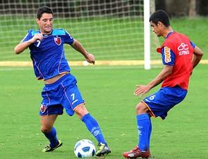Thiago Neves no treino do Flamengo em Fortaleza (Foto: Alexandre Vidal / Fla Imagem)
