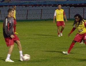 D´Alessandro no treino do Internacional (Foto: Alexandre Alliatti / Globoesporte.com)