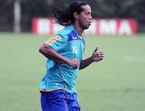 Ronaldinho treino Flamengo (Foto: Site Oficial do Flamengo)
