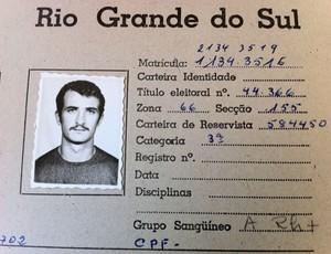 Felipão e o registro como professor de educação física (Foto: Alexandre Satamini / Globoesporte.com)