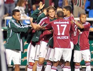 jogadores gol Fluminense (Foto: Rafael Moraes / Photocamera)