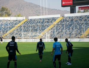 Grêmio treina no Chile (Foto: Eduardo Cecconi/Globoesporte.com)