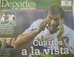 Jornal El Mercúrio fala sobre o Grêmio (Foto: Eduardo Cecconi/Globoesporte.com)