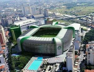 Arena Palestra projeção (Foto: Reprodução do Twitter)
