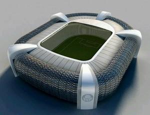 Maquete Arena Palestra Itália (Foto: Reprodução de Twitter)