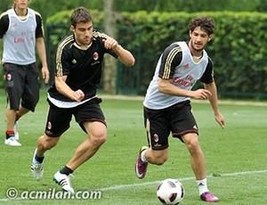 alexandre pato milan treino (Foto: divulgação Site Oficial do Milan)