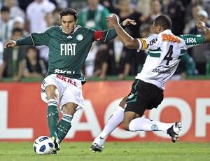 Kleber na partida do Palmeiras contra o Coritiba (Foto: Ag. Estado)