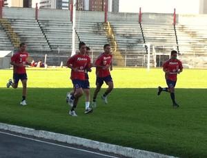 Paraná Clube treina na Vila Capanema (Foto: Fernando Freire - Globoesporte.com)