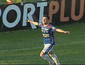 Giancarlo comemora gol do Cianorte (Foto: Reprodução RPC TV)