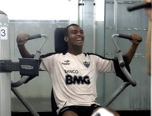 richarlyson atlético-mg sala de musculação (Foto: Lucas Catta Prêta / Globoesporte.com)
