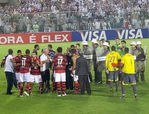 Confusão Ceará x Flamengo (Foto: Richard Souza / Globoesporte.com)