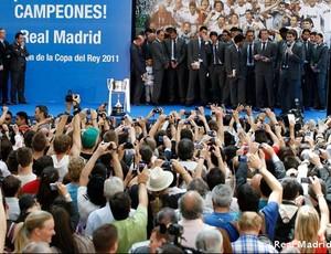 real madrid festa copa do rei comunidade de madrid (Foto: divulgação Site Oficial do Real Madrid)