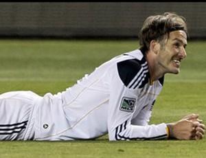 Beckham marca contra o Kansas City (Foto: agência AP)