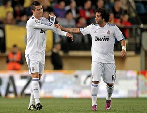 cristiano ronaldo marcelo real madrid gol villarreal (Foto: agência EFE)