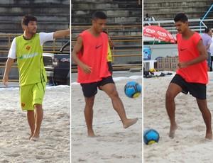 Jorginho Benjamin André futebol de areia (Foto: Igor Christ / Globoesporte.com)