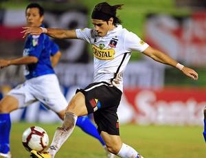 Ezequiel Miralles na partida do Colo Colo (Foto: AFP)