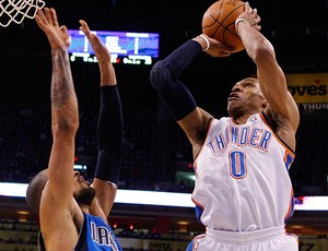 basquete nba mavericks russel westbrook oklahoma vity thunder (Foto: agência Getty Images)
