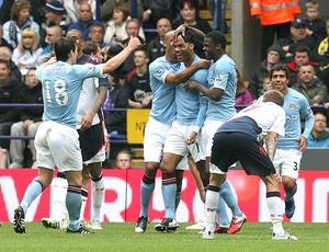 comemoração Manchester City (Foto: EFE)